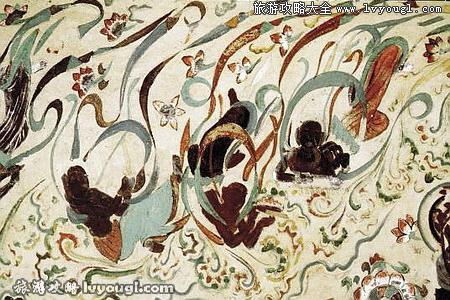 著名的敦煌莫高窟飞天壁画(图例4)图片