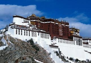 世界文化遗产西藏布达拉宫World cultural heritage Tibet Potala Palace